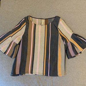 Dolan Left Coast Collection flare sleeve blouse